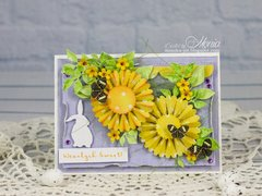 Easter card with rosettes