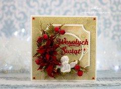 Christmas card with an angel