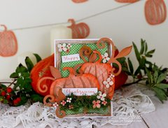 Card with pumpkins