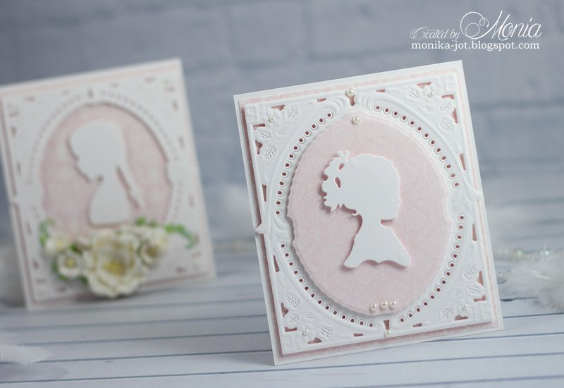 Card with silhouette