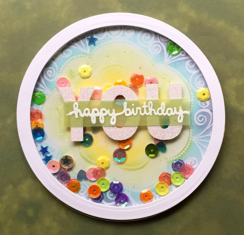 Round Shaker Birthday Card