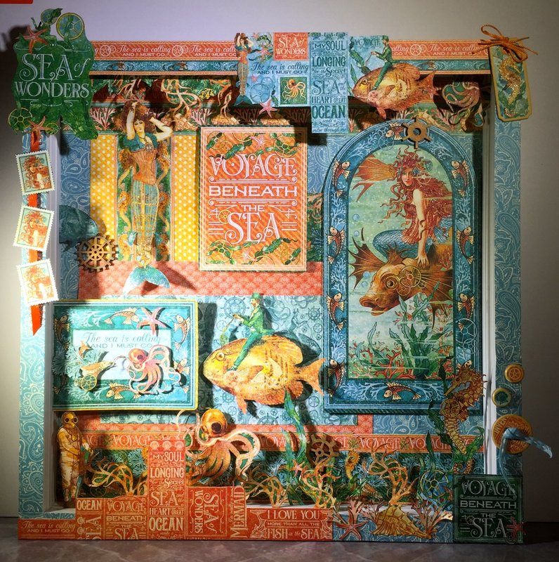 Voyage Beneath the Sea Shadowbox