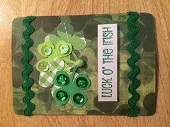 Luck of the Irish St. Patrick's Day ATC
