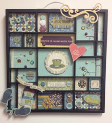 Snow Day Printer Tray / Memory Tray / Shadow Box