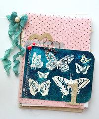 Butterfly Sun Print 1st Birthday Album