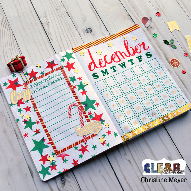 December Bullet Journal Spread