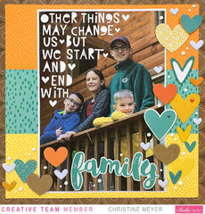 Family Layout with Big Journaling - Bella Blvd