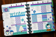 February Planner Pages - Winter Themed