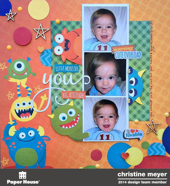 Lil Monster Layout by Christine Meyer