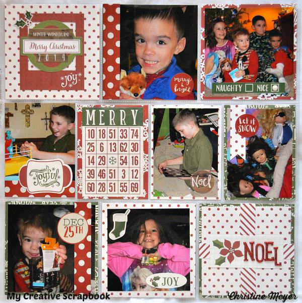 Merry Christmas Pocket Page