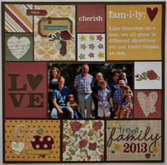 Family Patchwork Layout by Christine Meyer
