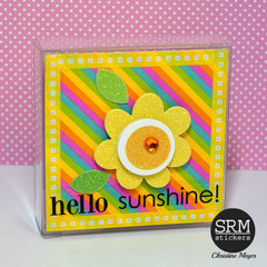 Hello Sunshine Clear Container