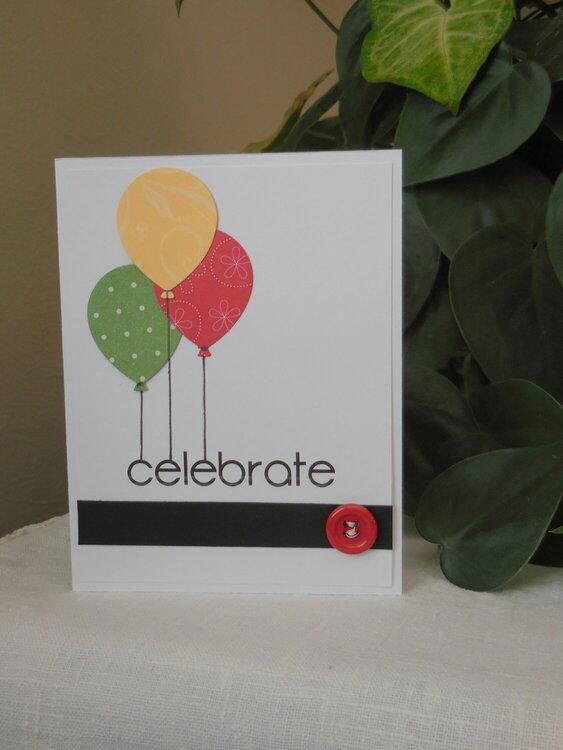 Celebrate - Balloon Card