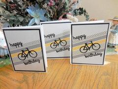 Bicycle Birthday Washi Card