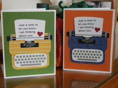Typewriter cards