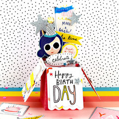 Hooray Pop Up Birthday Card