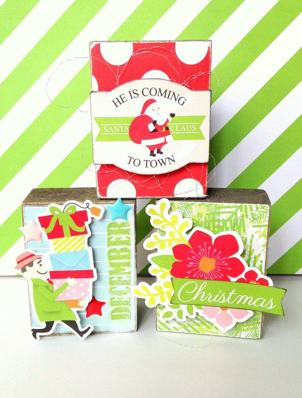 Christmas Block Art by Missy Whidden