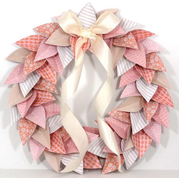 Paper Wreath by Amanda Coleman