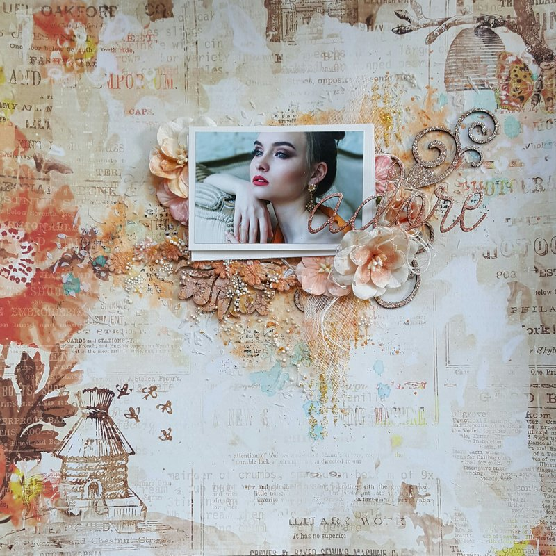 "Blue Fern Studios ""Adore"" Layout"