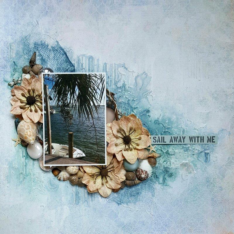 """Sail Away With Me"" Scraps of Darkness Seaside Kit"