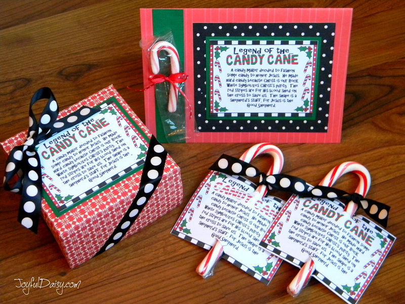 Legend of the Candy Cane Card and Crafts