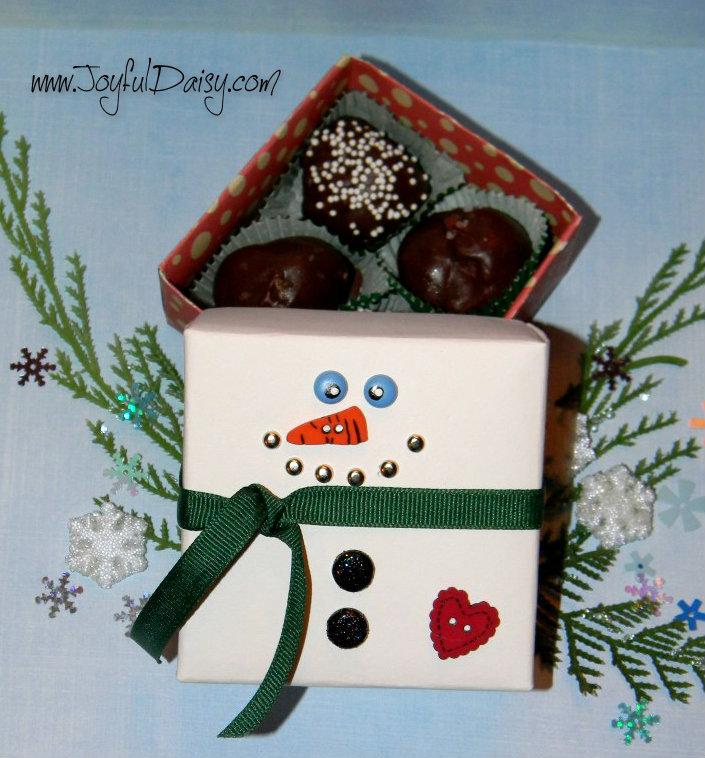 Cardstock Snowman Gift Box