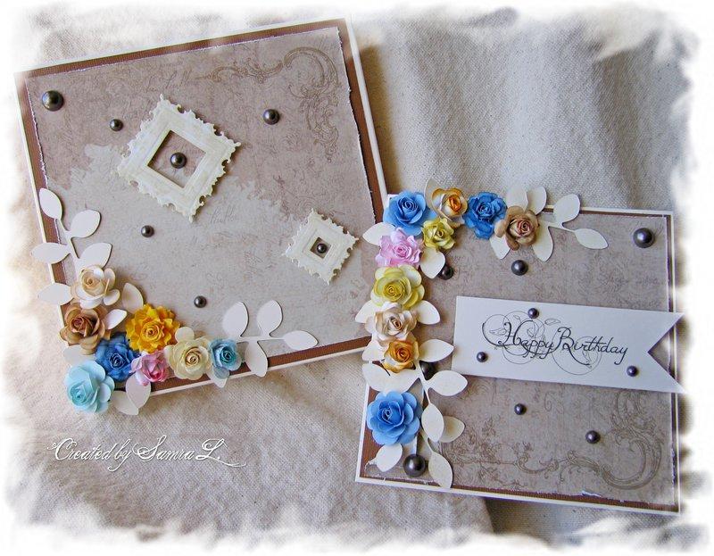 VINTAGE SHABBY CHIC CARD-HAPPY BIRTHDAY