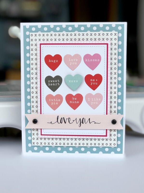 """Love you"" valentine card"