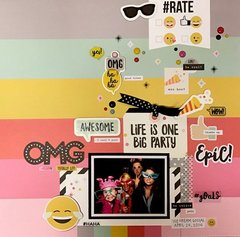 """Life Is One Big Party...*NEW SIMPLE STORIES """"EMOJI LOVE""""*"""