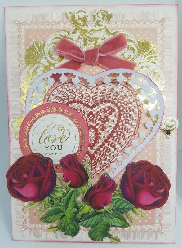 Love You Valentine card