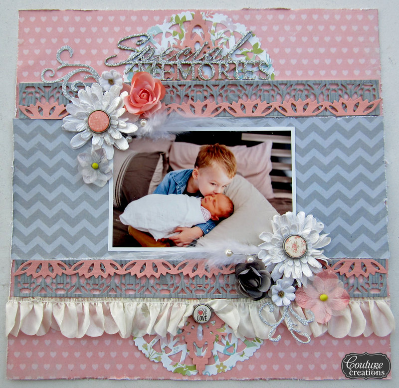 Special Memories | Couture Creations, Core'dinations Glittersilk & Simple Stories