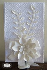 White on White Card - Couture Creations