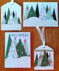 2020 Christmas cards 7 & 8 and 2 tags