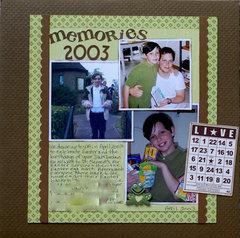 Memories 2003