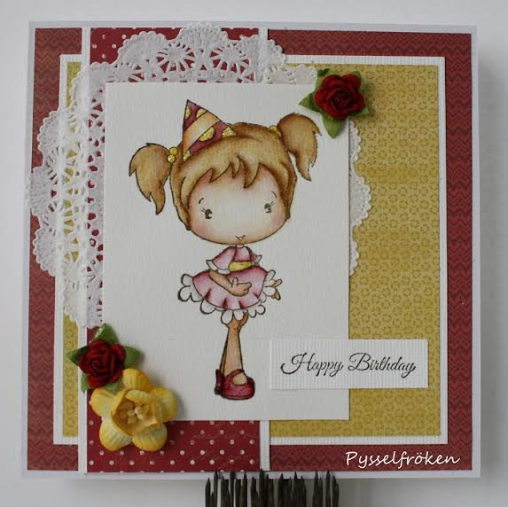 Party Olivia Card by DT Member Frida