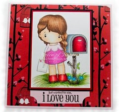 Love Letter Lucy Card by DT Member Shelby