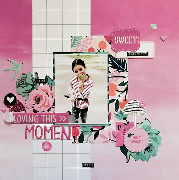 Layout 'Loving This Moment'