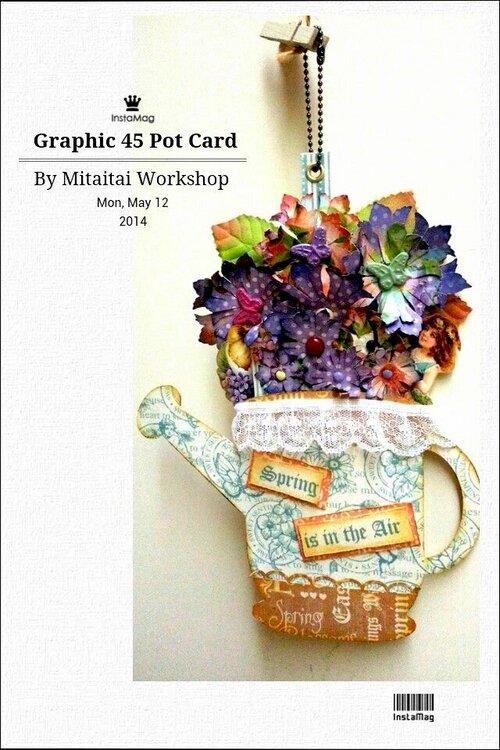 Graphic 45 Pot Card