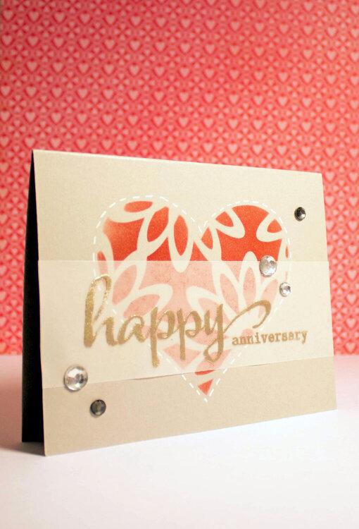Happy Anniversary - Layering Stencils