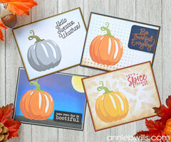 Autumn Pumpkin Card Set