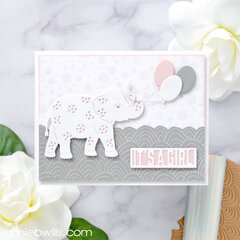 Foiled Baby Girl Card