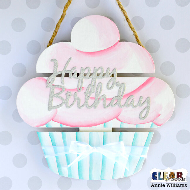 Happy Birthday Cupcake Sign