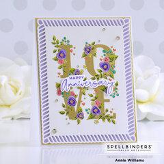 Love Block Anniversary Card