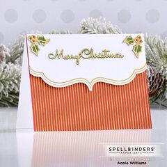 Foiled Pinstripe Christmas Card