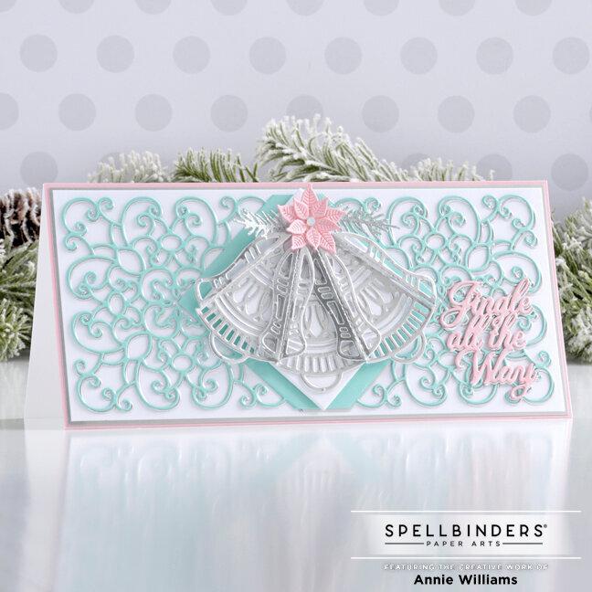 Silver Bells Slimline Card
