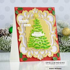 Ornate Metallic Christmas Tree Card