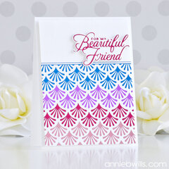 Foiled Friendship Card