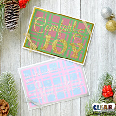 Easy Plaid Christmas Cards
