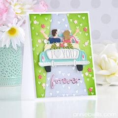 Field of Hearts Card
