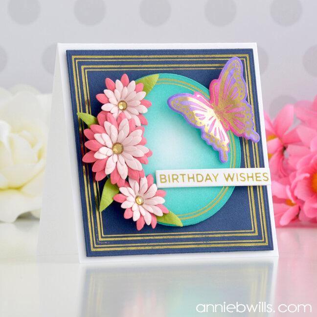 Simple Foiled Birthday Card
